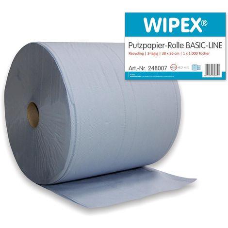 Putztuch Basic-Line L360xB380ca.mm 3-lagig blau 1RL/VE Wipex