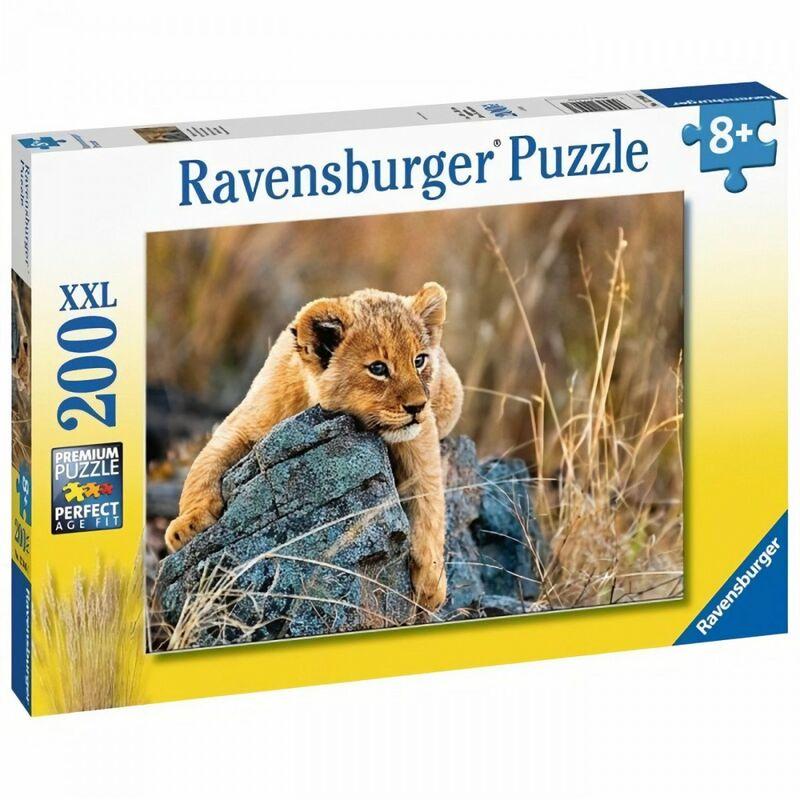Puzzle 200 pieces XXL - Le petit lionceau - Ravensburger - Puzzle Enfant 200 pieces - Des 8 ans