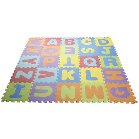 Puzzle tapis mousse non-toxique 36 pcs Jeu éducatif Enfants de développement doux tapis, bébé jouer puzzle nombre/lettre tapis