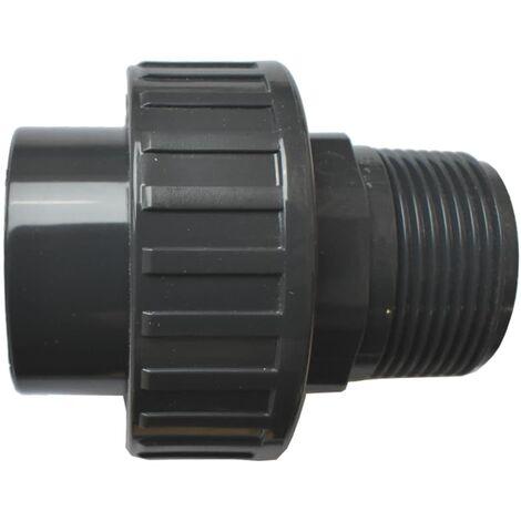 """PVC 3/3 Verschraubung Klebemuffe x AG 40 mm x 1 1/4"""""""