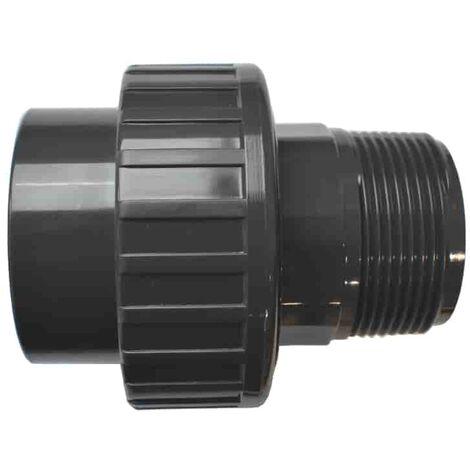 """PVC 3/3 Verschraubung Klebemuffe x AG 50 mm x 1 1/2"""""""