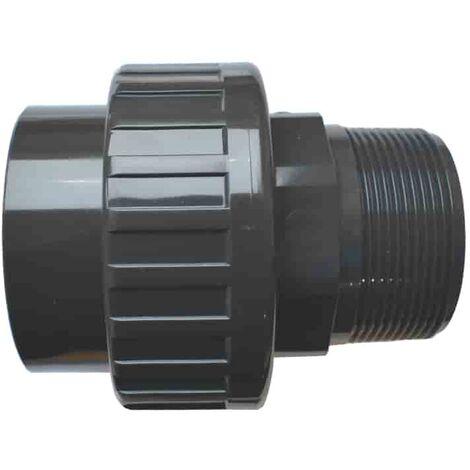 """PVC 3/3 Verschraubung Klebemuffe x AG 63 mm x 2"""""""