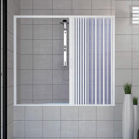 PVC Badewannefaltwand mit seitlicher Öffnung Mod. Nina