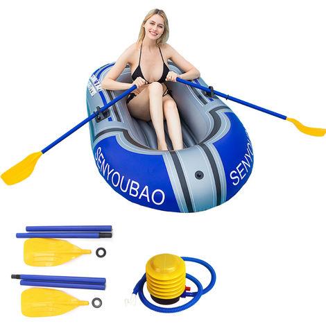 Pvc Canoe 1 Personne Bateau Gonflable Set Kayak Avec Paddle Et Pompe A Air