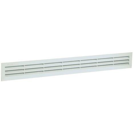 PVC clásico: Rectangular largo 40x282 blanco con mosquitera