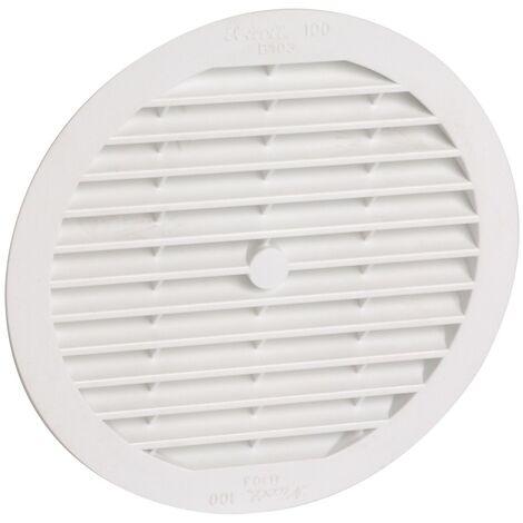 PVC clásico: Redondo para tubo blanco D.124 con mosquitera