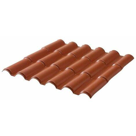 PVC-Dachplatte mit romanischem Ziegelprofil 201 cm x 108 cm