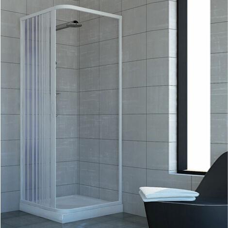 Duschkabine Dusche Duschabtrennung Duschwand U Form Falttur 3