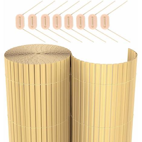 PVC Fence Garden Balcony Blind Screen Brown/Gray/Beige 80/90/100/180 x 300/400/500cm