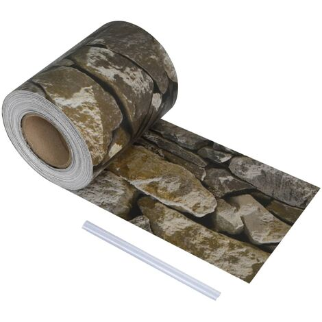 PVC Fence Strip Roll 70x0.19 m Stone