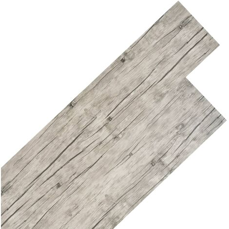 PVC Flooring Planks 4.46 m² 3 mm Light Grey