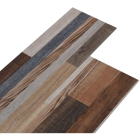 PVC Flooring Planks 4.46 m² 3 mm Multicolour
