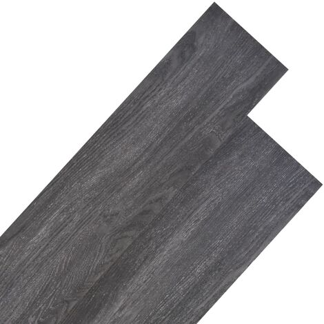 PVC Flooring Planks 5.26 m² 2 mm Black and White
