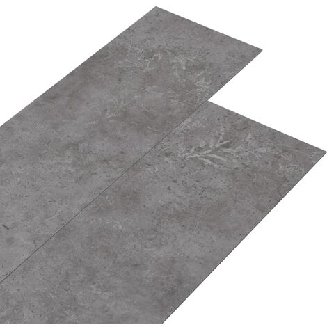 PVC Flooring Planks 5.26 m² 2 mm Concrete Grey