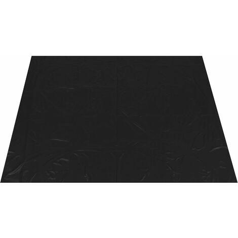 PVC Full Queen King Couvre-matelas haute brillance Drap de lit imperméable Drap de lit imperméable (noir, 220x200CM)