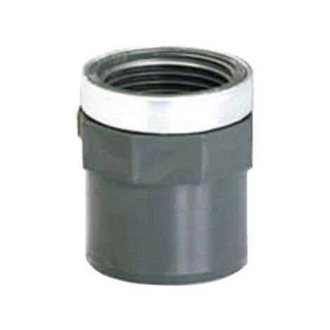 """PVC threaded end - Pressure to be bonded - Male-Female - PN10 - D75/90 - 2""""1/2 40839Q"""