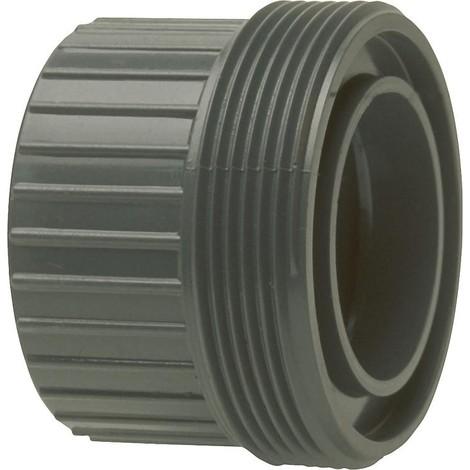 PVC-U - Raccord adhesif Piece a visser avec manchon adhesif 16 mm
