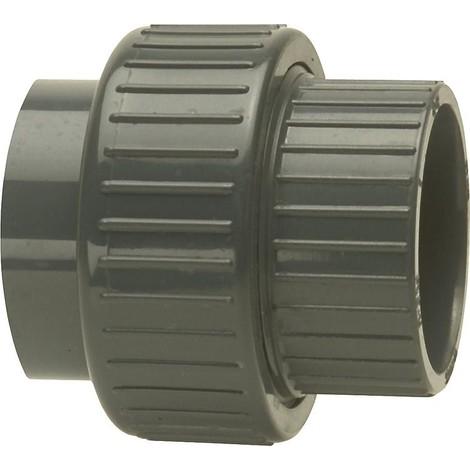 PVC-U - Raccord adhesif Raccord visse, 16 mm, manchon adhesif bilateral
