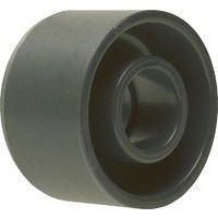 PVC-U - Raccord adhesif Reduction courte, 110 x 63 mm, avec support et manchon adhesif