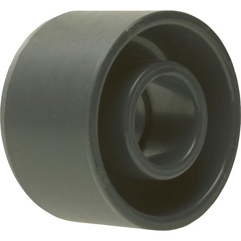 PVC-U - Raccord adhesif Reduction courte, 65 x 32 mm, avec support et manchon adhesif
