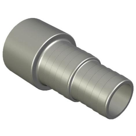 PVC - U Schlauchtülle für Poolschlauch 50 mm x 38/32 mm