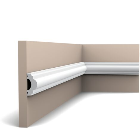 PX120F Flexible Cimaise murale Orac Decor - 4x2x200cm (h x p x L) - moulure décorative polymère - rigide ou flexible : flexible - conditionnement : A l'unité