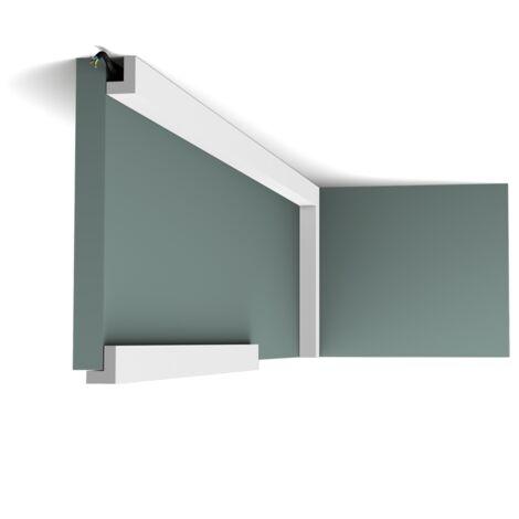 PX164 Moulure multifonctionnelle Orac Decor Axxent - 3x2,5cm (h x p) - plinthe décorative - conditionnement : A l'unité
