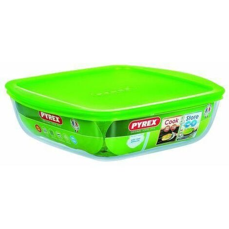 """main image of """"Pyrex PYRG4CCA21H Square Box Green, Transparent 1pc(s) food storage container"""""""