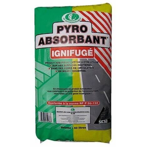 Pyro-absorbant industriel biodegradable sac 40 l vegetal - 6 5 kg pyro