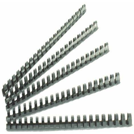Q-Connect 12mm Black Binding Comb Pk100 - KF24022