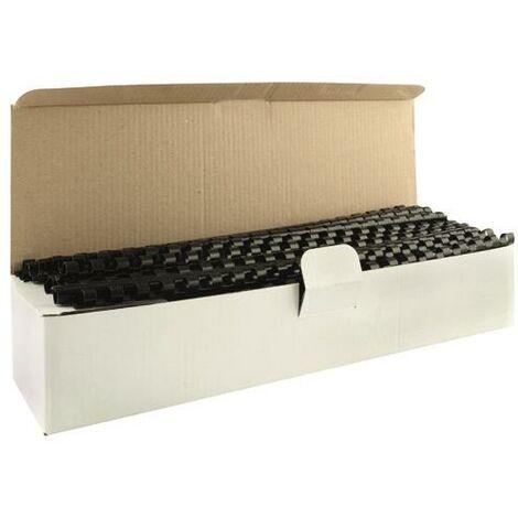 Q-Connect 8mm Black Binding Comb Pk100 - KF24018