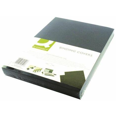 Q-Connect Black A4 Binding Covers Pk100 - KF00501