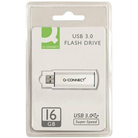 Q-Connect Sil/Blk USB Slider 16Gb Drive - KF16369