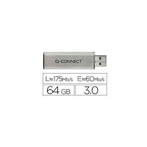 Q-Connect Sil/Blk USB Slider 64Gb Drive - KF16371