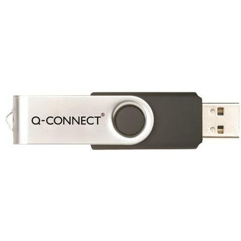 Q-Connect Silv/Blk USB 16Gb Swivel Drive - KF41513
