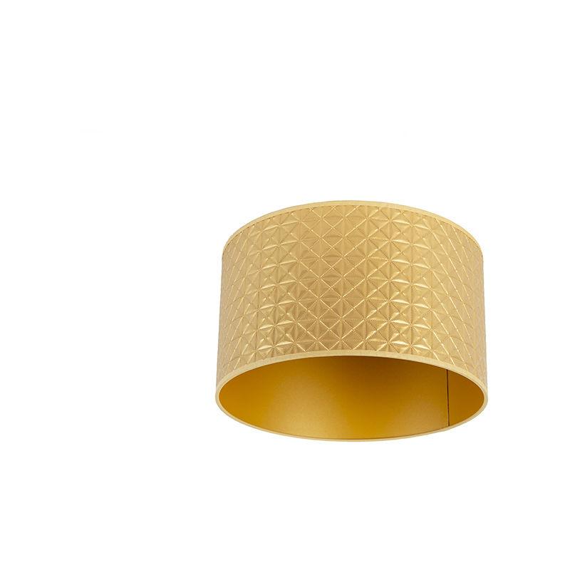 QAZQA Algodón y poliéster Pantalla dorada triángulos 35/35/20 , Redonda / Cilíndrica Pantalla lámpara colgante,Pantalla lámpara de pie - 97535