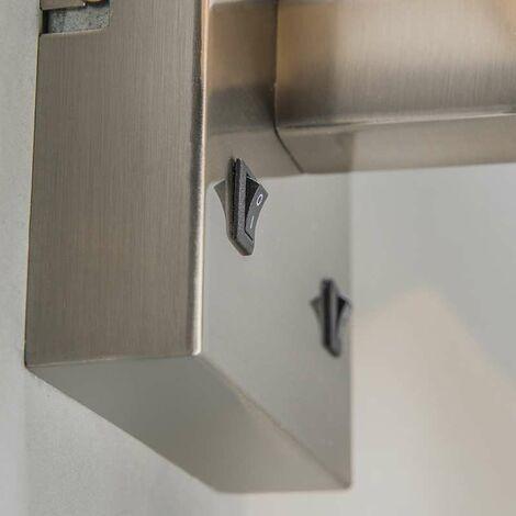 QAZQA Applique con paralume Bergamo - Moderno - Metallo,Tessuto - Nero/Acciaio - Quadrato/Allungato Non sostituibile Max. 1 x 3 Watt - 90247