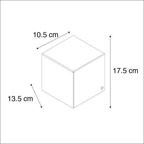 QAZQA Applique cube - Design - Alluminio - Bianco - Cubo Max. 1 x Watt - 92562