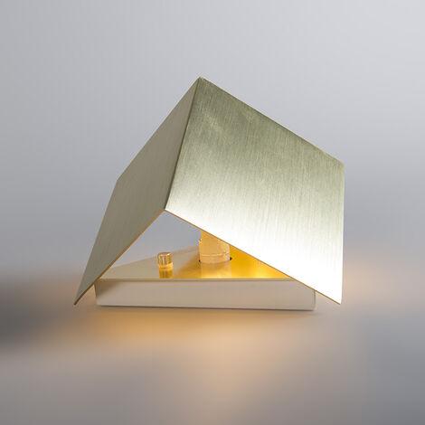 QAZQA Applique Cube - Design - Alluminio - Oro - Cubo Max. 1 x Watt - 92561