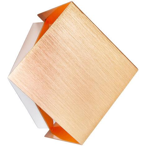 QAZQA Applique cube - Design - Alluminio - Rame - Cubo Max. 1 x Watt - 92560