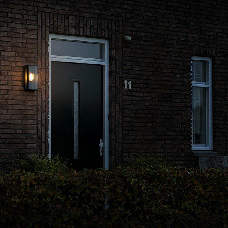 Brilliant AG 44480//06/applique esterna metallo//vetro 60/W e27/Nero