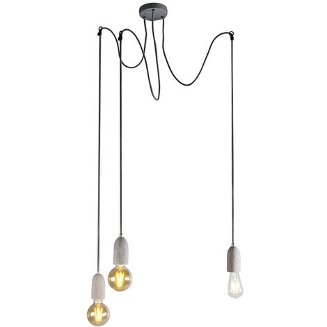 Qazqa Cava Lampes suspensions rondes gris