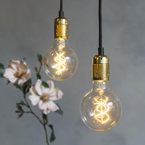 Qazqa Cava luxe Lampes à suspension Oblong Or / Laiton
