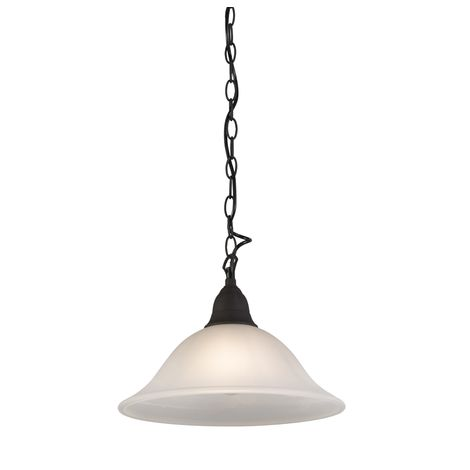 QAZQA Clásico/Antiguo Lámpara colgante rústica vidrio marrón - DALLAS 1 /Metálica Redonda Adecuado para LED Max. 1 x 100 Watt
