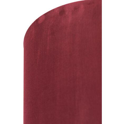 QAZQA Classico Cotone Paralume in velluto rosso 20/20/20 con interno dorato , Rotondo / Cilindro Paralume per lampade a sospensione,Paralume per lampade a terra - 97517