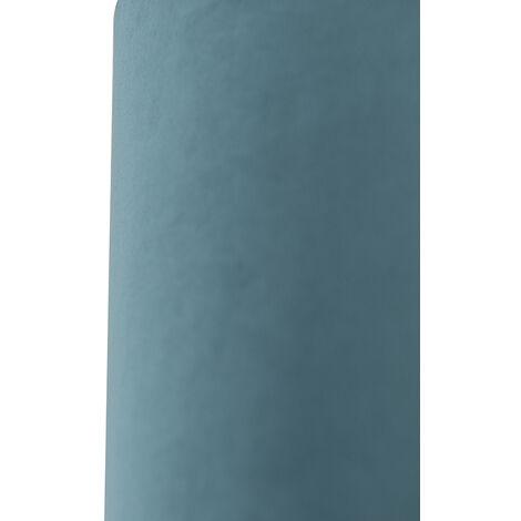QAZQA Classico Cotone Paralume in velluto blu 25/25/25 con interno dorato , Rotondo / Cilindro Paralume per lampade a sospensione,Paralume per lampade a terra - 97498