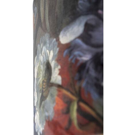 QAZQA Classico Cotone Paralume in velluto motivo floreale interno 35/35/20 dorato , Rotondo / Cilindro Paralume per lampade a sospensione,Paralume per lampade a terra - 97485