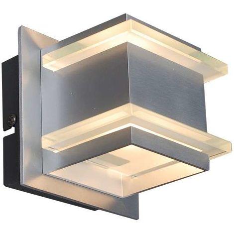 QAZQA Diseño Aplique diseño de aluminio - BLOCK /Vidrio Cubo /Cuadrada Adecuado para LED Max. 1 x 40 Watt