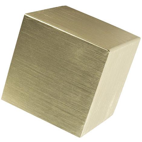 QAZQA Diseño Aplique moderno dorado - CUBE Aluminio Cubo Adecuado para LED Max. 1 x 40 Watt