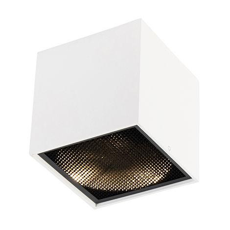 QAZQA Diseño Foco diseño blanco -BOX Honey Aluminio Cubo Adecuado para LED Max. 1 x 50 Watt
